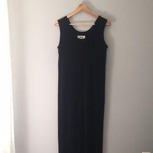 FLAX Black Sleeveless Maxi Dress